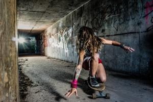 Grung Skateboard Girl