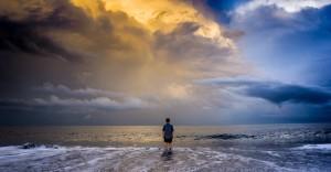 Boy Contemplates Ocean